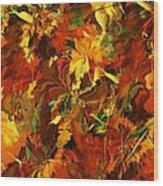 Autumn Burst Wood Print