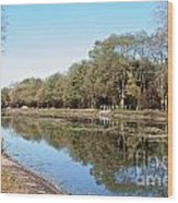 Autumn By The Erie Canal Wood Print
