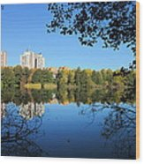 Autumn By The Lake 6 Wood Print