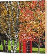 Autumn Call Wood Print