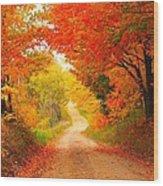 Autumn Cameo 2 Wood Print