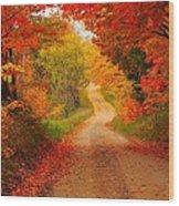 Autumn Cameo Wood Print