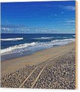 Autumn Carolina Beach Wood Print by Joan Meyland