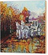 Autumn Carriage Wood Print