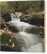 Autumn Cascades In Tennessee Wood Print
