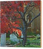 Autumn Charleston Churchyard Wood Print
