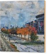 Autumn Chicago White Sox Us Cellular Field Mixed Media 03 Wood Print