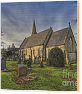 Autumn Church Wood Print