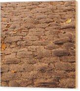 Autumn Cobble Stone Road II Wood Print