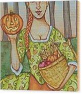 Autumn Colonial Wood Print