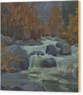 Autumn Color Blewitt Pass Wood Print