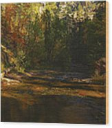 Autumn Colors By The Creek  Wood Print