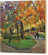 Autumn Colors - Lugano Wood Print