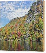 Autumn Colors On A Lake Wood Print