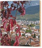 Autumn Colour - Ohrid - Macedonia Wood Print
