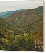 Autumn Comes To Appalachia  Wood Print
