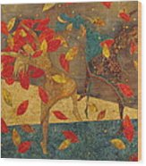 Autumn Dance Wood Print
