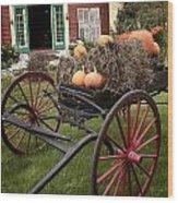 Autumn Decor Wood Print