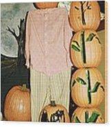 Autumn Decorations Wood Print