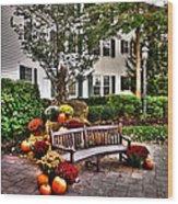Autumn Display At The Sagamore Resort Wood Print