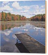 Autumn Dock Wood Print