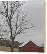 Autumn Dusk On The Farm Wood Print