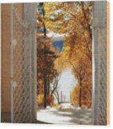 Autumn Entrance Wood Print