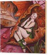 Autumn Fairy Wood Print
