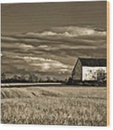 Autumn Farm II Wood Print