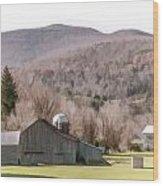 Autumn Farm In Catskills Wood Print