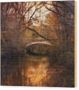 Autumn Finale Wood Print