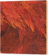 Autumn Fire Pano 2 Vertical Wood Print