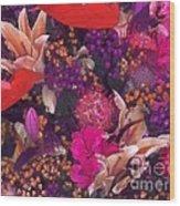 Autumn Flower Bouquet Wood Print
