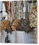 Autumn Flower Box Wood Print