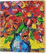 Autumn Flowers 7 Wood Print