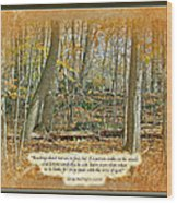 Autumn Forest - George Washington Carver Quote Wood Print
