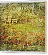 Autumn Garden Wood Print by Dianne  Lacourciere
