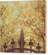 Autumn Gates Wood Print
