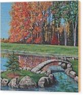 Autumn Glory At The Arboretum Wood Print