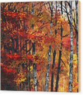 Autumn Glory I Wood Print