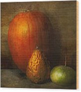 Autumn - Gourd - Melon Family  Wood Print by Mike Savad