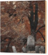 Autumn Graveyard Wood Print