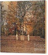 Autumn Guardians Wood Print