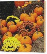 Autumn Harvest 6 Wood Print