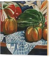 Autumn Harvest Wood Print by Eve Riser Roberts