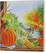 Autumn Harvest Fall Delight Wood Print