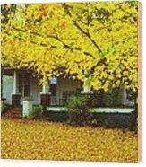 Autumn Homestead Wood Print