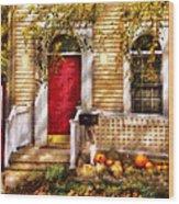 Autumn - House - A Hint Of Autumn  Wood Print