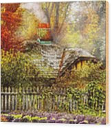 Autumn - House - On The Way To Grandma's House Wood Print