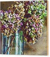 Autumn Hydrangeas Photoart Wood Print